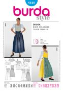 Burda Ladies Sewing Pattern 8448 Dirndl Dress with Apron