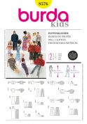 Burda Craft Easy Sewing Pattern 8576 Barbie Style Doll Clothes