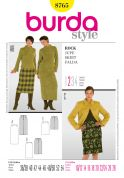 Burda Ladies Easy Sewing Pattern 8765 Straight Pencil Skirts