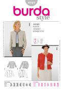 Burda Ladies Easy Sewing Pattern 8949 Fitted Collarless Short Jackets