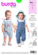 Burda Baby Easy Sewing Pattern 9337 Overall Dungarees