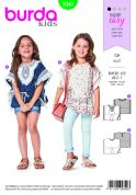 Burda Kids Easy Sewing Pattern 9340 Summer Poncho Tops