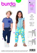 Burda Kids Easy Sewing Pattern 9342 Elastic Waistband Trousers