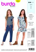 Burda Kids Easy Sewing Pattern 9345 Summer Jumpsuits