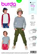 Burda Kids Easy Sewing Pattern 9346 Raglan Tops