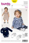 Burda Baby Easy Sewing Pattern 9347 Dress & Bodysuit