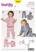Burda Baby Easy Sewing Pattern 9349 Jogging Suit