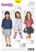 Burda Girls Easy Sewing Pattern 9351 Gathered Tops & Dresses