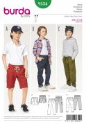 Burda Girls Easy Sewing Pattern 9354 Pants & Shorts