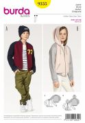 Burda Girls Easy Sewing Pattern 9355 Casual Jacket & Hoodie