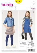 Burda Girls Easy Sewing Pattern 9356 Skirt & Pinafore Dress