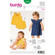 Burda Baby & Toddlers Easy Sewing Pattern 9358 Dress, Top & Panties