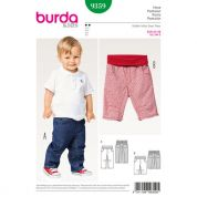Burda Baby & Toddlers Easy Sewing Pattern 9359 Elastic Waistband Pants