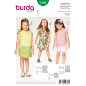 Burda Girls Easy Sewing Pattern 9360 Dress, Blouse & Skirt