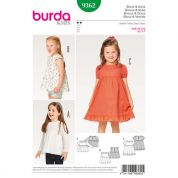 Burda Girls Easy Sewing Pattern 9362 Dress, Blouse & Skirt