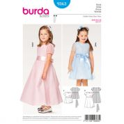 Burda Girls Easy Sewing Pattern 9363 Two Layered Special Occasion Dress
