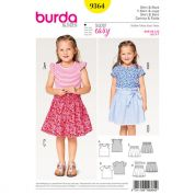 Burda Girls Easy Sewing Pattern 9364 Tops & Elastic Skirts