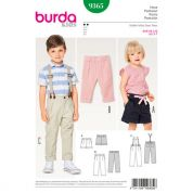 Burda Childrens Easy Sewing Pattern 9365 Pants & Shorts