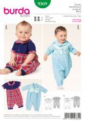 Burda Baby Sewing Pattern 9369 Jumpsuits with Peter Pan Collars