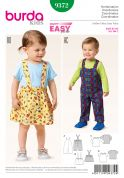 Burda Toddles Easy Sewing Pattern 9372 Dunagrees, Pinafore & Tops