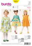 Burda Girls Easy Sewing Pattern 9373 Gathered Skirt Dresses