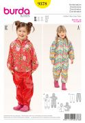 Burda Girls Easy Sewing Pattern 9378 Onesie, Hoodie & Tracking Bottoms