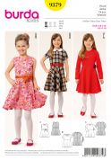 Burda Girls Easy Sewing Pattern 9379 Simple Dresses & Belt
