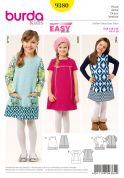 Burda Girls Easy Sewing Pattern 9380 Panelled Dresses