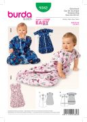 Burda Baby Easy Sewing Pattern 9382 Cuddly Sleeping Bag