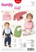 Burda Baby Easy Sewing Pattern 9395 Novelty Bibs in 5 Styles
