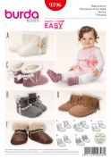Burda Toddlers Easy Sewing Pattern 9396 Slipper Boots in 5 Styles