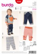 Burda Baby Easy Sewing Pattern 9398 Casual Pants