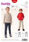 Burda Boys Sewing Pattern 9406 Jeans in 2 Styles