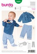 Burda Childrens Easy Sewing Pattern 9409 Double Breasted Jacket & Trousers