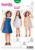 Burda Childrens Easy Sewing Pattern 9420 Sleeveless Summer Dresses