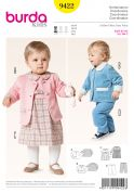 Burda Baby & Toddler Easy Sewing Pattern 9422 Dress, Jackets & Trousers