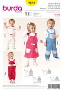 Burda Baby & Toddler Sewing Pattern 9424 Dresses & Dungarees