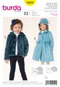 Burda Childrens Sewing Pattern 9429 Coat, Jacket & Hat with Bow