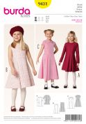 Burda Childrens Easy Sewing Pattern 9431 Flared Summer Dresses in 3 Styles
