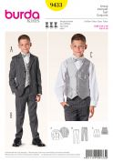 Burda Childrens Sewing Pattern 9433 Boys 3 Piece Smart Suit