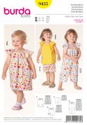 Burda Toddlers Easy Sewing Pattern 9435 Dress, Top, Shorts & Jumpsuit