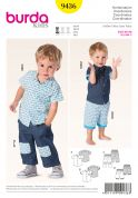 Burda Toddlers Easy Sewing Pattern 9436 Shirt, Shorts & Trouser Pants