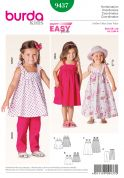 Burda Childrens Easy Sewing Pattern 9437 Top, Pants & Dresses