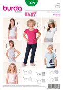 Burda Childrens Easy Sewing Pattern 9439 Summer Tops & T-Shirts