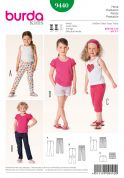 Burda Childrens Sewing Pattern 9440 Shorts, Cropped & Full Length Trousers