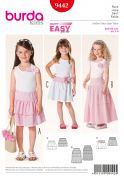 Burda Childrens Easy Sewing Pattern 9442 Gypsy Tiered Skirts