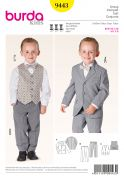 Burda Childrens Sewing Pattern 9443 Trouser, Jacket & Waistcoat Suit