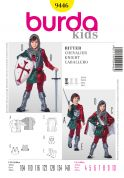 Burda Childrens Easy Sewing Pattern 9446 Medieval Knights Robe with Cape