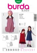 Burda Childrens Easy Sewing Pattern 9447 Sleeveless Dresses