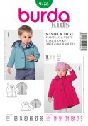 Burda Toddlers Easy Sewing Pattern 9456 Coat & Jacket
